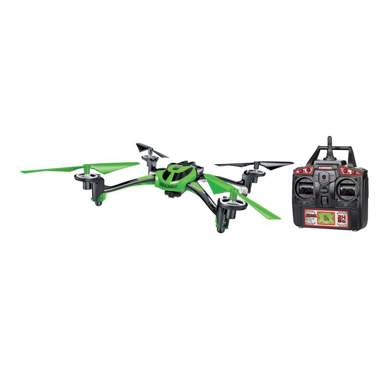 World Tech Toys Venomax Remote Control Camera Quadcopter Spy Drone, Green thumbnail