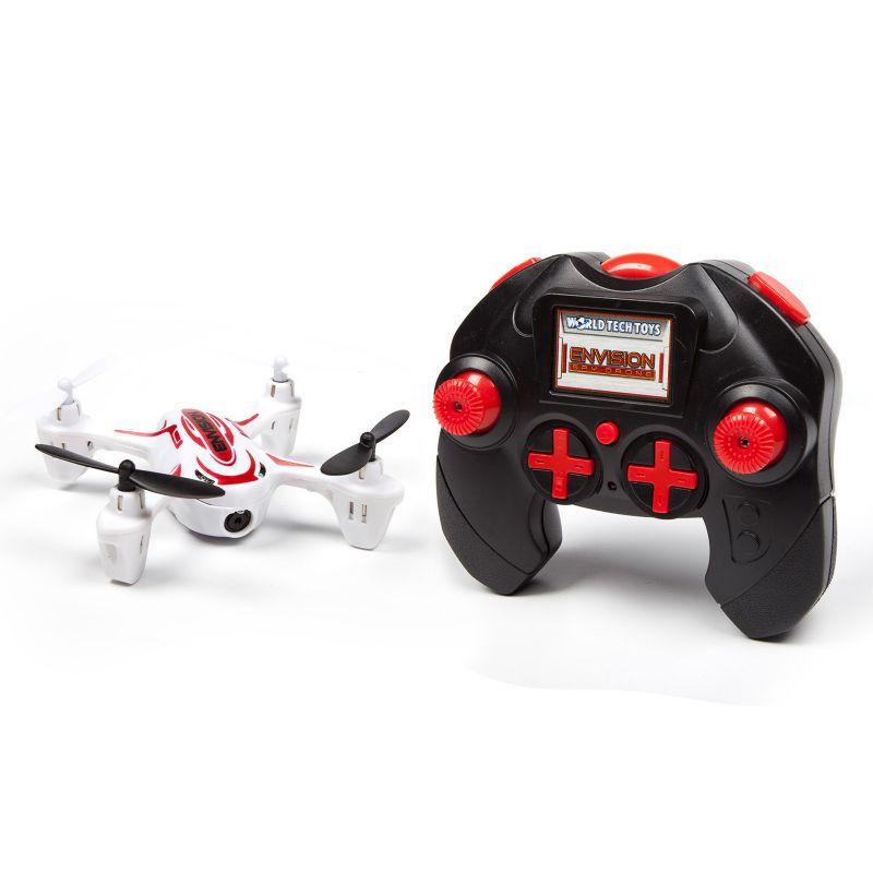 World Tech Toys Envision Remote Control Quadcopter Spy Drone, White thumbnail