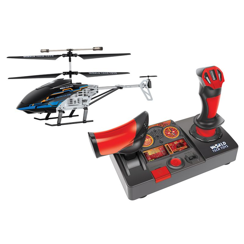 World Tech Toys Nano Hercules Unbreakable Helipilot Remote Control Helicopter, Red thumbnail