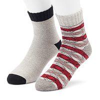 Men's Cabin Socks 2-Pack Lounge Quarter-Crew Socks