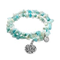 love this life Amazonite Dreams Beaded Coil Bracelet
