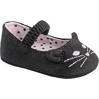 Baby Girl Wee Kids Knit Cat Skimmer Crib Shoe