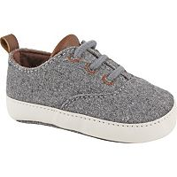Baby Boy Wee Kids Wool Lace Up Crib Shoes