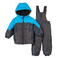 Baby Boy Pacific Trail Colorblock Jacket & Bib Snowpants Set