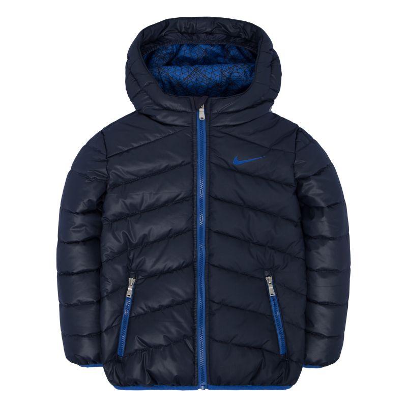 Toddler Boy Nike Hooded Puffer Jacket, Size: 2T, Med Blue