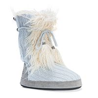 MUK LUKS Women's Jewel Sweater Knit Boot Slippers