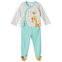Baby Taggies Giraffe Cardigan, Bodysuit & Pants Set