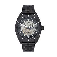 Chaps Men's Rockton Stainless Steel Automatic Skeleton Watch