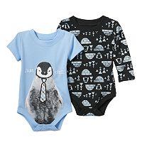 Baby Boy Baby Starters 2-pk. Penguin Bodysuits