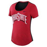 Women's Nike Ohio State Buckeyes Dri-FIT Scoopneck Tee