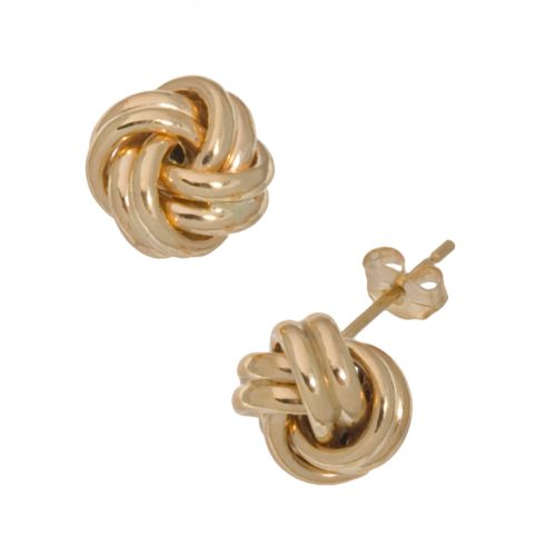 18k Gold Love Knot Stud Earrings