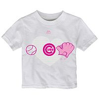Toddler Majestic Chicago Cubs Just Love Baseball Tee