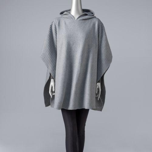 Women's Simply Vera Vera Wang Ribbed Hooded Poncho