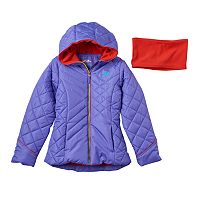 Girls 7-16 Pacific Trail Solid Puffer Jacket & Neck Warmer Set
