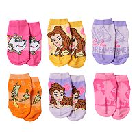 Disney's Beauty and the Beast Toddler Girl 6-pk. Socks