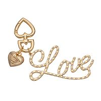 Juicy Couture Rhinestone ''Love'' Key Chain