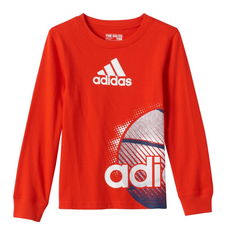 Boys 4-7 Adidas Graphic Sports Tee, Boy's, Size: 7, Brt Red