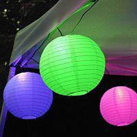 LumaBase Multi Color Paper Lantern String Lights