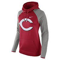Women's Nike Cincinnati Reds Therma-FIT Midweight Raglan Hoodie