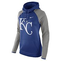 Women's Nike Kansas City Royals Therma-FIT Midweight Raglan Hoodie