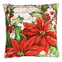 Thro by Marlo Lorenz Perdita Vintage Poinsettia Throw Pillow