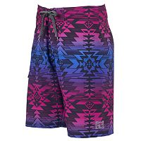 Men's Ocean Current Geometric Stretch Board Shorts