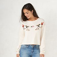 Disney's Snow White a Collection by LC Lauren Conrad French Terry Crop Sweatshirt - Women's