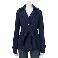 Juniors' Sebby Fleece Trench Coat
