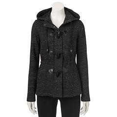 Juniors' Sebby Marled Toggle Fleece Jacket