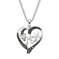 Silver Luxuries Cubic Zirconia & Marcasite