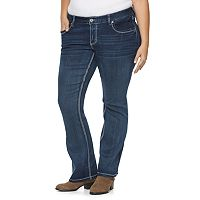Plus Size Rhythm in Blues Embellished Bootcut Jeans
