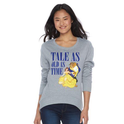 Disney's Juniors' Beauty and the Beast Graphic Fleece Sweatshirt