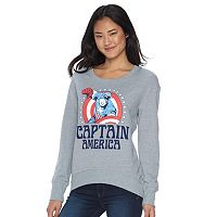 Juniors' Marvel Captain America Graphic Fleece Sweatshirt