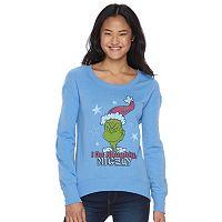 Juniors' Dr. Seuss How the Grinch Stole Christmas Graphic Fleece Sweatshirt
