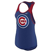 Women's Nike Chicago Cubs Wordmark Dri-FIT Tank Top