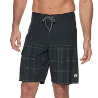 Men's Ocean Current Jaco Plaid Stretch Board Shorts