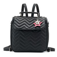 Candie's® Gemma Quilted Chevron Convertible Backpack