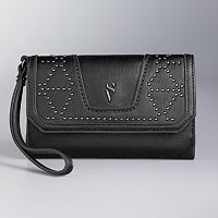 Simply Vera Vera Wang Midnight Studded Wristlet
