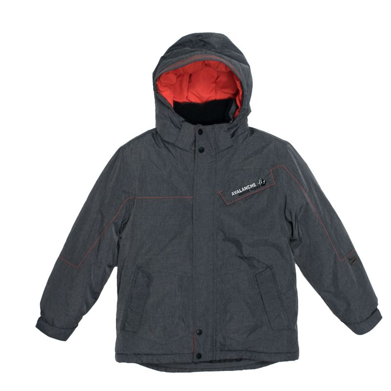 Boys 4-7 Big Chill Hooded Fleece-Lined Heavyweight Jacket, Boy's, Size: 7, Grey