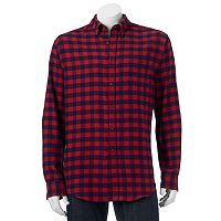 Men's Croft & Barrow® Slim-Fit Plaid Flannel Button-Down Shirt