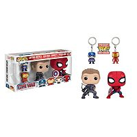 Captain America: Civil War 4-pk. Funko POP! Bobble-Head & Keychain Set