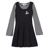 Disney D-Signed Girls 7-16 Tsum Tsum Striped Graphic Jumper Dress