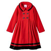 Girls 7-14 Sophie Rose Midweight Double-Breasted Red Trench Coat