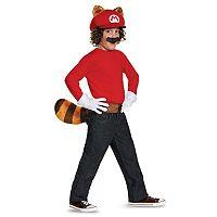 Kids Super Mario Bros. Mario Raccoon Costume Kit