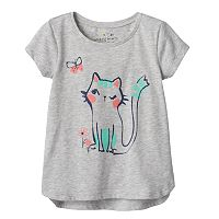 Toddler Girl Jumping Beans® Glitter Graphic Short Sleeve High-Low Tee