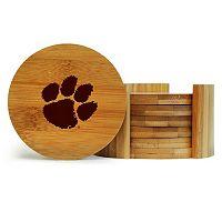 Clemson Tigers 6-Piece Bamboo Coaster Set