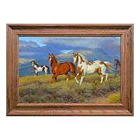 Reflective Art Wild Horses Framed Wall Art
