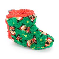 Baby Boy Skidders Reindeer Slippers