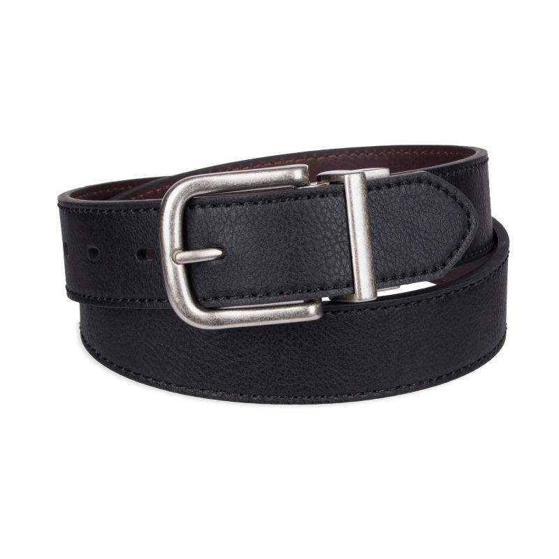 Men's SONOMA Goods for Life™ Reversible Cut-Edge Belt, Size: Small, Grey (Charcoal) thumbnail