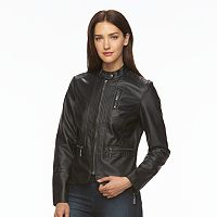 Women's Apt. 9¨ Faux-Leather Peplum Jacket